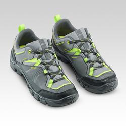 Lage wandelschoenen met veters voor kinderen MH120 low grijs 35 tot 38