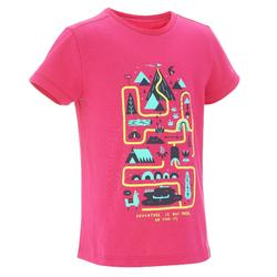 T-Shirt Wandern MH100 Kinder rosa