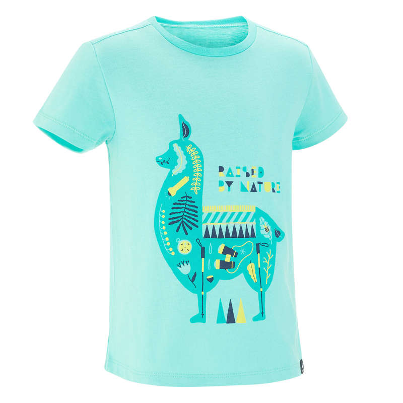 TS SHORT JKT & PANTS GIRL 2-6 Y Hiking - MH100 Kid Girl's TS -Turquoise QUECHUA - Hiking Clothes