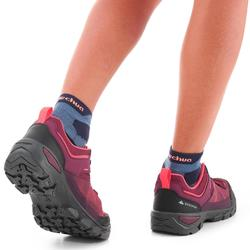 Lage wandelschoenen met veters voor kinderen MH120 low paars 35 tot 38
