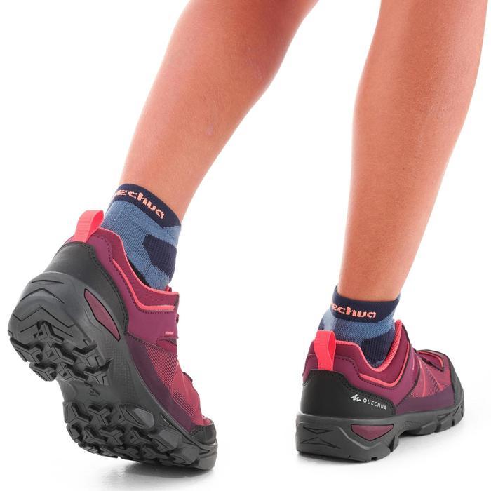 Zapatillas de montaña júnior talla 35 a 38 con cordones MH120 violeta