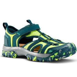 兒童款健行涼鞋MH150-綠色
