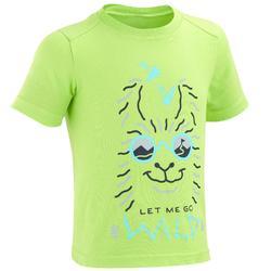 Camiseta de senderismo júnior MH100 verde