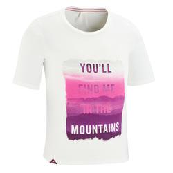 T-shirt de randonnée enfant MH100 blanc 7 À 15 ANS