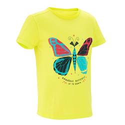Camiseta Manga Corta de Montaña y Trekking 2-6 años MH100 Niños Amarillo