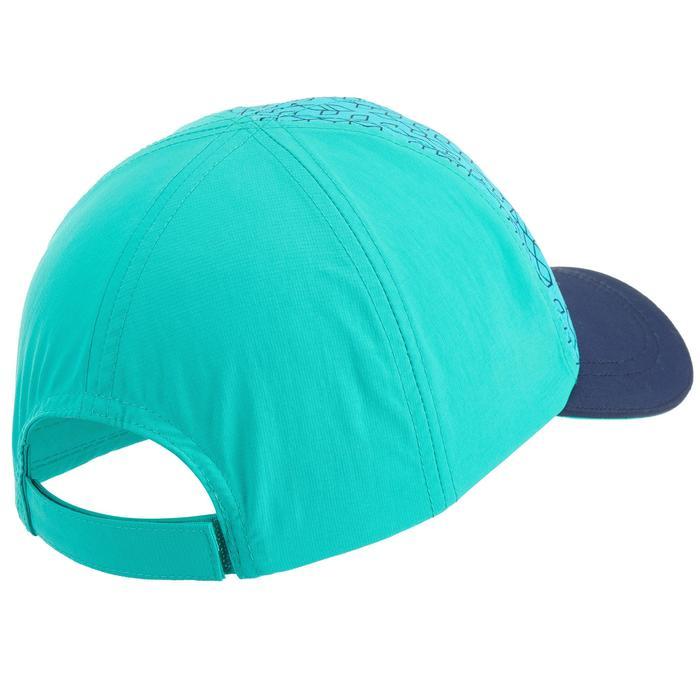 Gorra de senderismo júnior MH100 azul turquesa