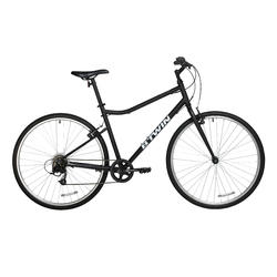 700C Riverside 100 Hybrid Bike - Black