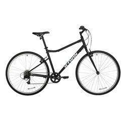 700C Riverside 100 Hybrid Bike - Black