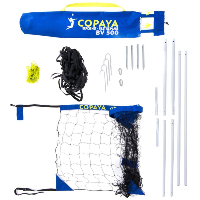 6 m Recreational Beach Volleyball Set (Net and Posts) BV 500 - Blue