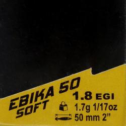 Turlutte EBIKA soft 1.8 50 rose pêche des seiches/calamars