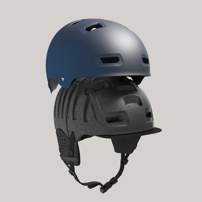 Fahrradhelm 500 dunkelblau