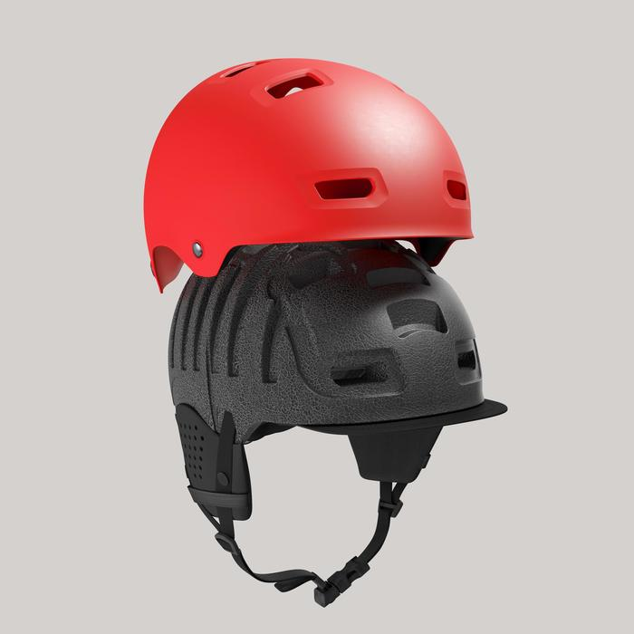 Fahrradhelm 500 rot