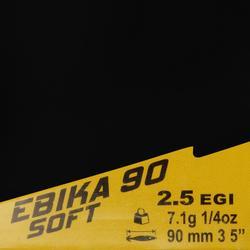 Turlutte EBIKA soft 2.5 90 orange pêche des seiches/calamars