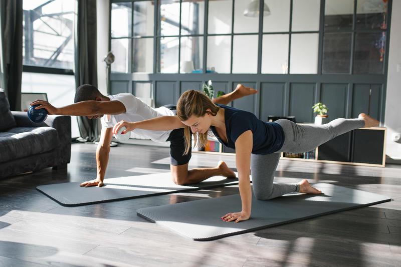 Gym Pilates Weighted Medicine Ball 450g - Bluish Grey