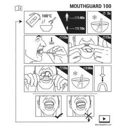 兒童款S號透明英式橄欖球護齒套R100