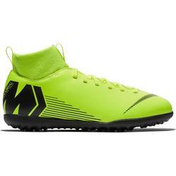 Botas de Fútbol Nike Mercurial Superfly VI Club HG Turf niños amarillo negro dd2685d9de7cb