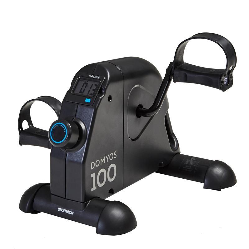 Pedaleador Fitness Gym Domyos Pedalera Estática Mini Bike negro
