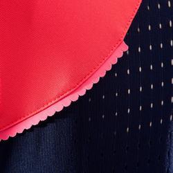 Mouwloos MTB-shirt voor dames ST 500 blauw/roze