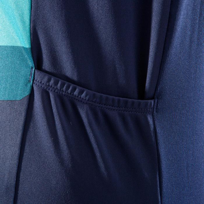 Mouwloos MTB-shirt ST500 dames kaki/blauw