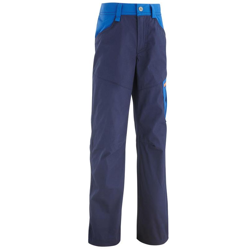 Children's hiking fleece MH100 - navy blue - age 7-15