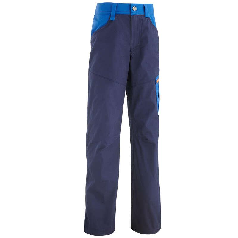 PANT SHORTS T-SHIRT BAMBINO 7-15 Sport di Montagna - Pantaloni bambino MH100 blu QUECHUA - Trekking bambino