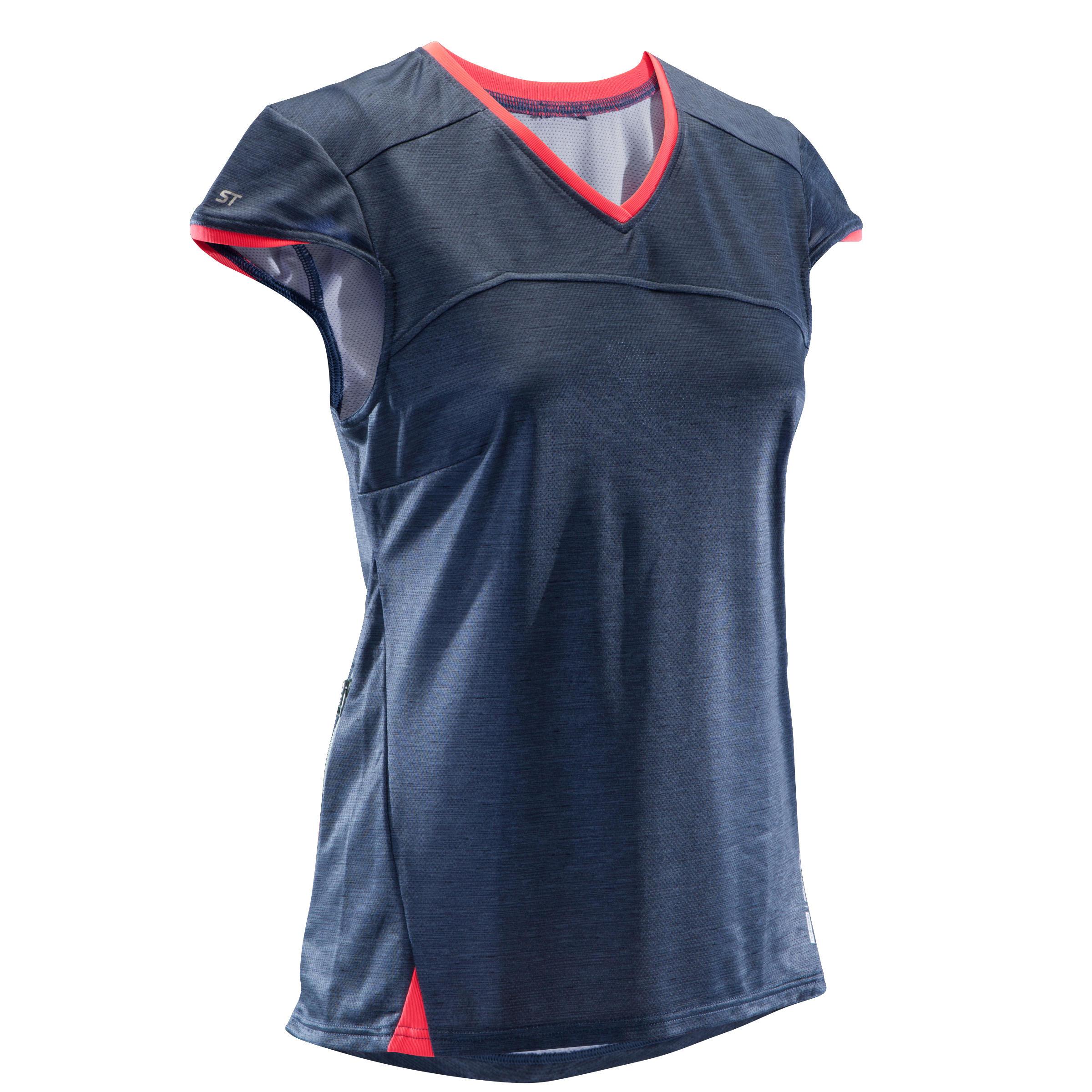 Rockrider MTB-shirt met korte mouwen heren ST 100 marineblauw
