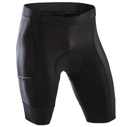 無吊帶公路車及旅行用車褲RC500(含口袋)-黑色