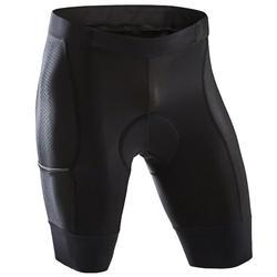 Wielrenbroek heren RC500 zonder bretels zwart met zakje