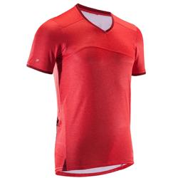 MTB-shirt met korte mouwen 100 voor heren rood