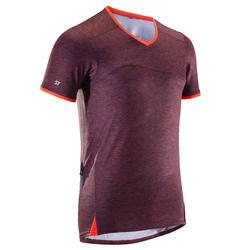 MTB-shirt voor heren met korte mouwen ST 100 heren blauw/oranje