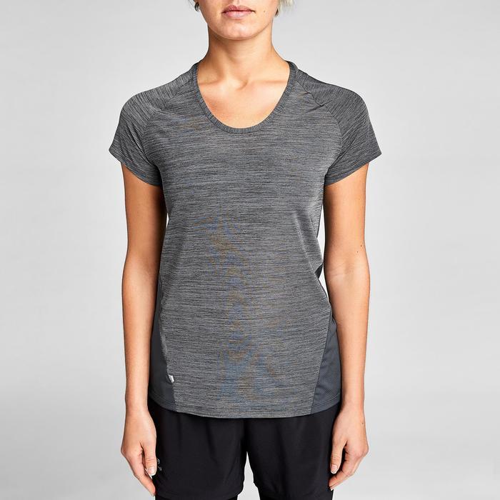 Dames T-shirt voor jogging Run Light grijs