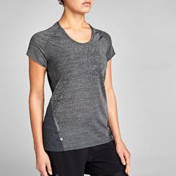 CAMISETA DE MANGA CORTA RUNNING PARA MUJER RUN LIGHT GRIS