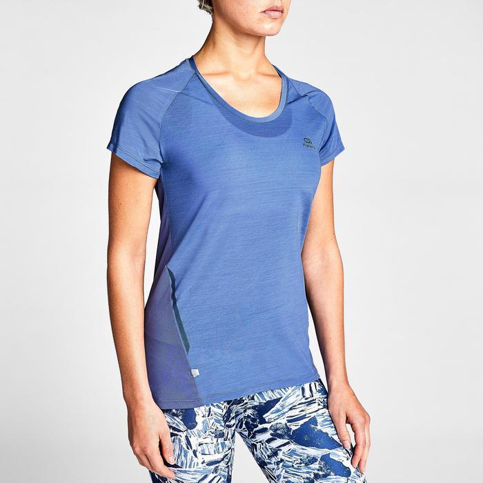 女款T恤RUN LIGHT - 藍紫色