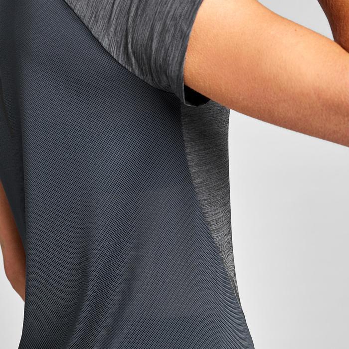女款跑步T恤Run Light - 灰色