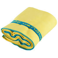 Ultra-compact microfibre towel size L 80 x 130 cm - yellow
