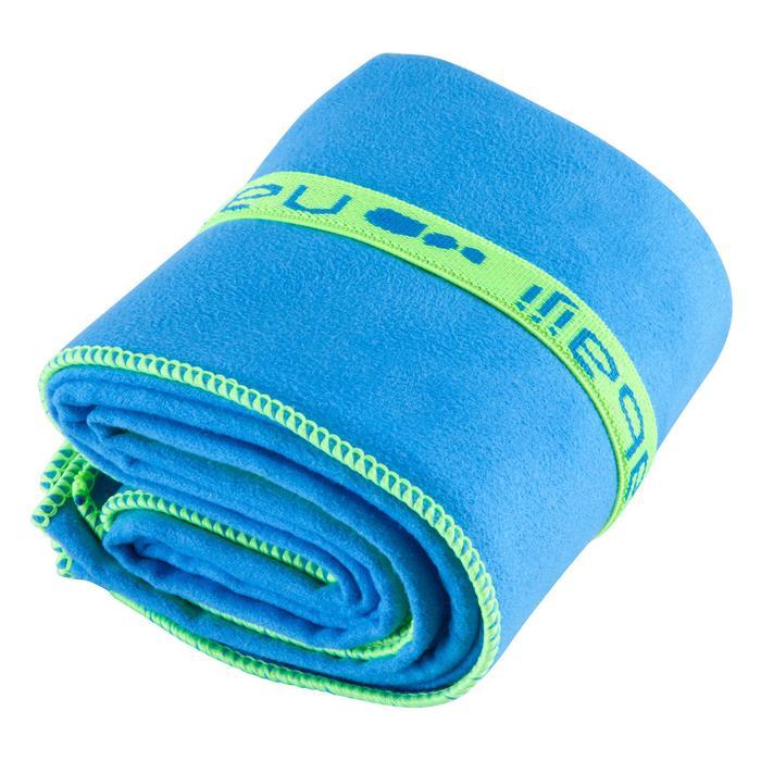 Supercompacte microvezelhanddoek blauw maat M 65 x 90 cm