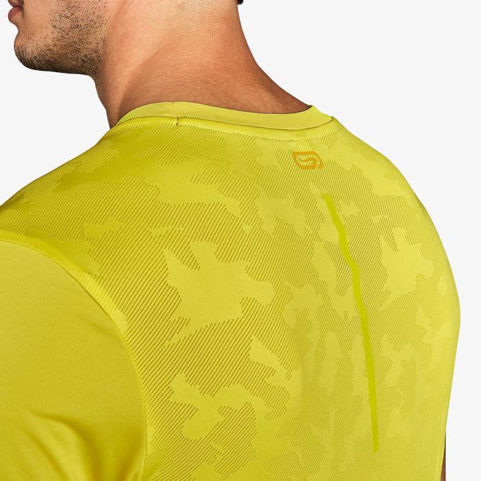 T-shirt hardlopen heren Run Dry+ Breathe geel