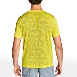 Camiseta Manga Corta Running Kalenji Run DRY+ Breathe Hombre Amarillo