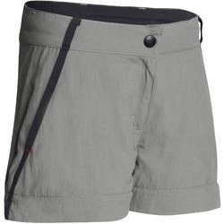 Pantalón Desmontable de Montaña y Trekking Niños 7-15 años MH550 Gris