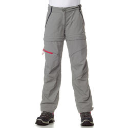 MH550 Children's Zip-Off Hiking Trousers - Grey