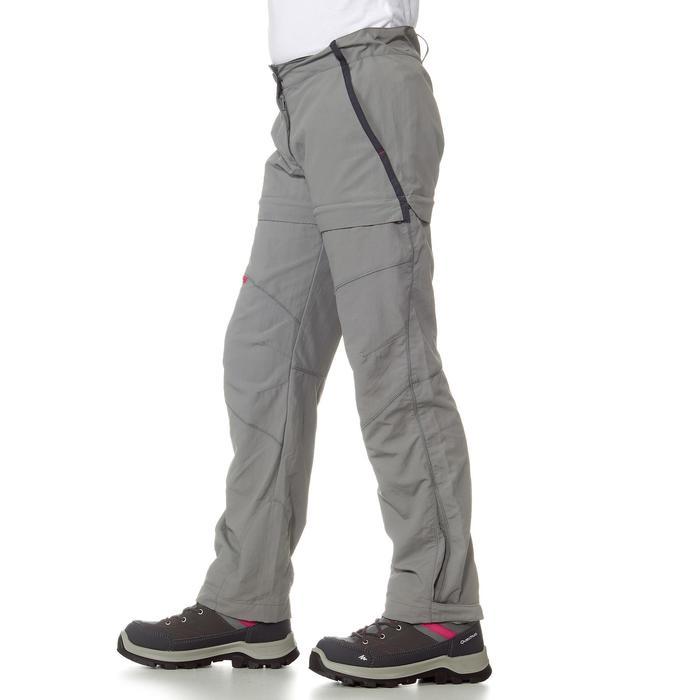 Pantalon de randonnée modulable enfant MH550 gris
