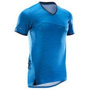 Modra kolesarska majica s kratkimi rokavi ST 100