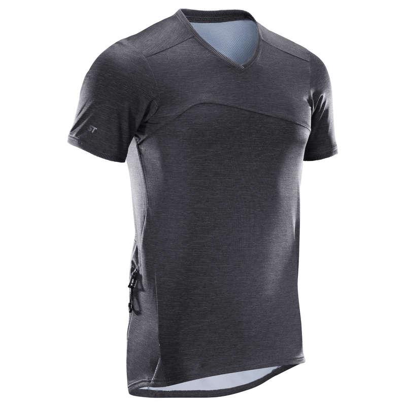 Велоджерси для начинающих на теплую погоду Летняя одежда и обувь - Мужская футболка St 100 ROCKRIDER - Летняя одежда и обувь