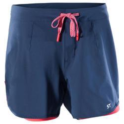Pantalón corto MTB ST 500 mujer Azul