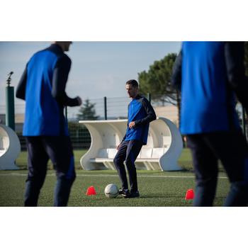 成人款半開式拉鍊足球運動衫T500-藍色