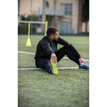成人款輕量足球外套Essential 100-碳黑色