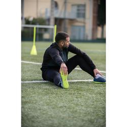 Licht trainingsvest voor voetbal volwassenen T100 carbonzwart