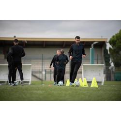 Veste de football légère adulte T100 noire carbone