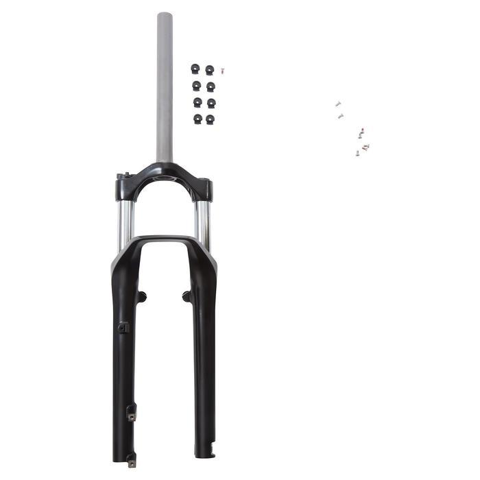 """Geveerde vork MTB 27.5 1""""1/8 80 mm schijfremmen of V-brakes zwart"""