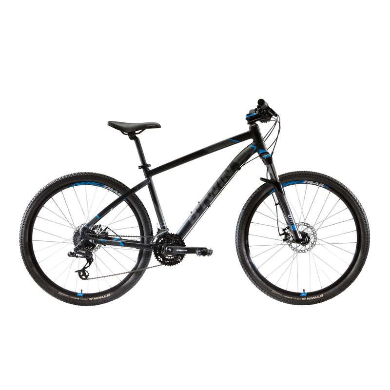 MEN INTERMED/ADVDSPORT TRAIL MTB BIKE Cycling - ST 520 Mountain Bike, Black - 27.5